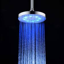 8 inch round stainless steel bathroom rgb led