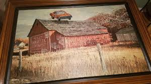 Found a huge painting of a barn at Goodwill. Promptly had my mom paint the  General Lee into it. : ThriftStoreHauls