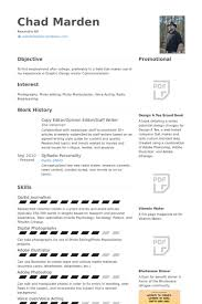 Copy Editor/Opinion Editor/Staff Writer Resume samples