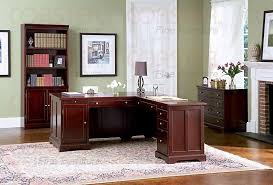 home office set. rich cherry lshaped home office set a