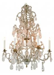 italian rock crystal chandelier circa 1920