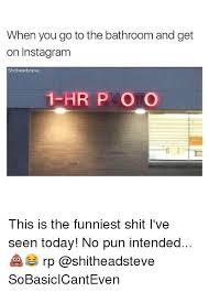Bathroom Puns Simple When You Go To The Bathroom And Get On Instagram Shitheadsteve 48 HR