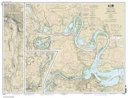 James River Depth Chart Amazon Com Synthetic Media Noaa Chart 12252 James River