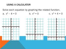 using a calculator solve each equation by graphing the function