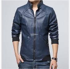 plus size men s leather jacket m 5xl black coffee blue
