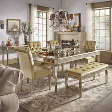 Clara Gold Velvet and Antique Gold Mirrored Dining Set by iNSPIRE Q Bold -  Free Shipping Today - Overstock.com - 24171275