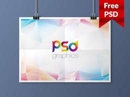 poster psd hanging landscape poster mockup free psd by psd graphics dribbble