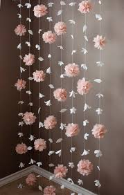 Paper Flower Garlands Paper Flower And Tissue Paper Puff Garland By