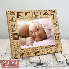 personalized baby birth frame