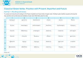 Classical Greek Verbs
