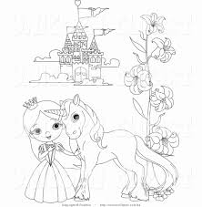 Riding on the back of a unicorn big nose princess coloring page 8. Unicorn Princess Coloring Page Lovely Coloring Coloring Princess And Castle Pages Extraordi Unicorn Coloring Pages Castle Coloring Page Princess Coloring Pages