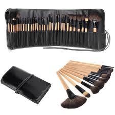 bestope 32pcs professional makeup brushes set synthetic kakubi