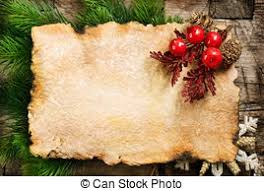 Blank Christmas Background Christmas Background Blank Old Paper Sheet With Decoration