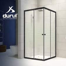 Durul Duşakabin 80x100 Dikdörtgen Çizgili Cam ve Siyah Profil - Duş  Teknesiz Fiyatı ve Özellikleri - GittiGidiyor