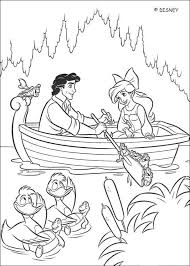 Small Picture Ariel and prince eric on a boat coloring pages Hellokidscom