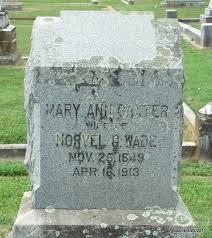Mary Ann Baxter Wade (1849-1913) - Find A Grave Memorial