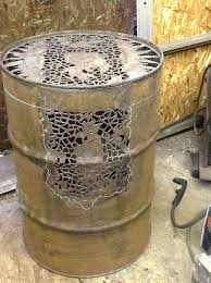 55 gallon drum fire pit for best of free hand plasma cut steel how to