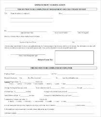 Printable Sample Letter Of Employment Verification Form Inside ...