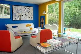colorful office space interior design. Modern Colorful Living Room Interior Design With Country Home Office Space F