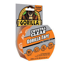 gorilla clear repair 1 88 in x 27 ft clear heavy duty duct tape
