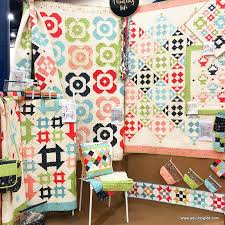 Quilt Market Houston 2017 | A Quilting Life - a quilt blog & Our booth for The Front Porch was so much fun. It went up quickly thanks to  the help of my husband who did all of the ladder work! Adamdwight.com