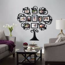 stunning family frames wall decor for 12 piece family tree picture frame collage set black