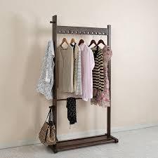 For Living Coat Rack Modern Wooden Coat Hanger Rack OakBeech Wood 100x100cm Living Room 77