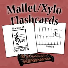 Percussion Note Chart Mallet Percussion Fingering Chart And Flashcards Stepwise