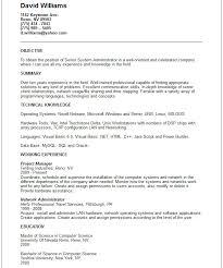 linux admin resume sample gallery creawizard com