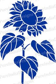 Sunflower Stencil Designs Pin On Dream Decor