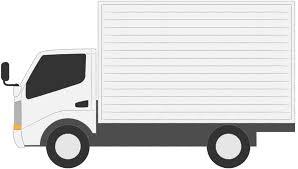 トラック貨物自動車商用車バンフリーイラスト素材無料商用