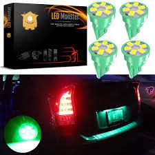 Monster Light Bulb Led Monster Green Led Bulbs 6 Smd Car License Plate Lamp Bulb T10 194 168 W5w 4