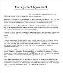 Artist Consignment Agreement Template Commission Contract – Findspeed