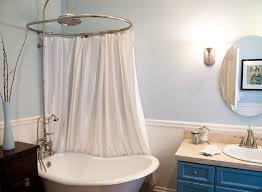 architecture clawfoot tub shower curtain ideas bathroom eclectic with interesting intended for bear claw remodel 16