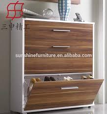 cheap modern wood shoe rack designs, wood closed door showcase