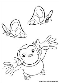 curious george coloring book free printable pages