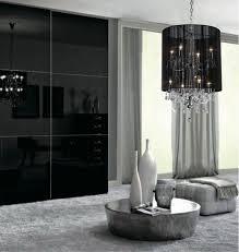 image of cool black crystal chandelier