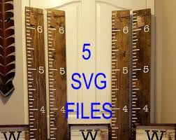 24 Growth Chart Ruler Diy Metric Free Silhouette Cut File