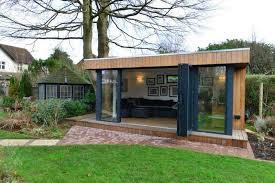Modern Garden Office Contemporary Garden Office BiFold Doors Modern E