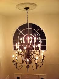 heavy chandelier foyer install
