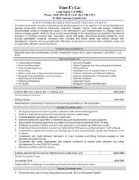 Sample Resume For Accounts Receivable Specialist Best Brilliant