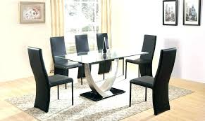 6 seat round dining table dimensions sets room glass and chairs modern set tables