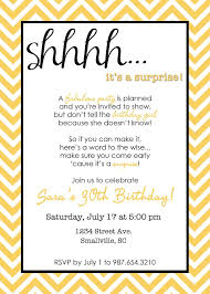 Invitation Words For Birthday Party Wording For Surprise Birthday Party Invitations 60th