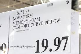 novaform comfort curve pillow. novaform memory foam comfort curve bed pillow costco price o