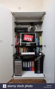 cupboard office. Home Office In Cupboard With \