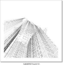 architecture blueprints skyscraper. Brilliant Blueprints Free Art Print Of Architecture Blueprint For Blueprints Skyscraper U