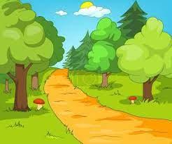 Fotka Kreslená pozadí lesa krajiny. #129371896 | fotobanka Fotky&Foto