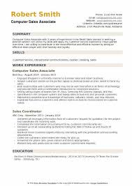 Sales Associate Resume Computer Sales Associate Resume Samples Qwikresume