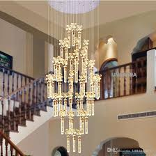 modern chandelier led lamps k9 crystal bubble bar chandeliers lights fixture american big long stair hanging light home indoor lighting chandelier lamps