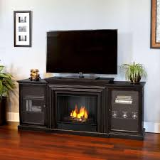 real flame frederick entertainment 72 in media console ventless gel fuel fireplace in blackwash